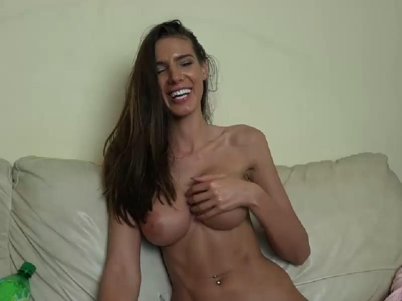 Topless Girl Smokes Vape