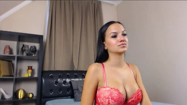 Big-boobed BornToBeAnAngel in sexy bra recorded online cam show